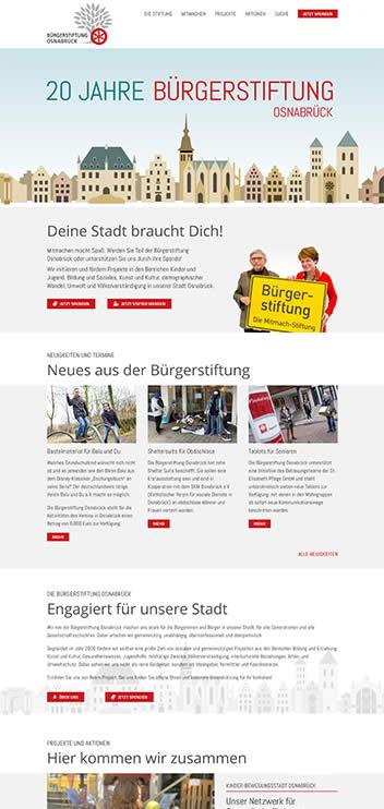 2WIE20 BÜRGERSTIFUNG WEBSITE UND ILLUSTRATION